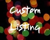 Custom Listing for alishaclaire28