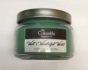 WALT'S WONDERFUL WORLD - Green Clover and Aloe (Disney scented) candles, 8 oz, optional gift box
