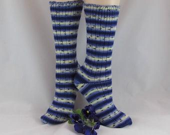 Striped Socks-Warm Socks-Winter Socks-Knit Winter Socks-Soft Wool-Warm Socks- Winter Socks- Handmade Socks-Hand Knit Socks-Knit Wool Socks