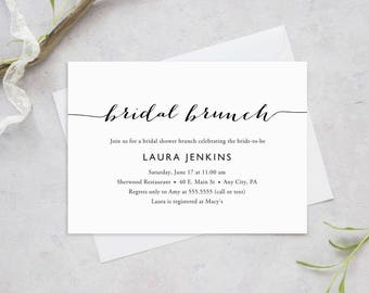 Printable Bridal Shower Brunch Invitation