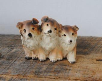 Vintage Napcoware Puppy Dogs Planter