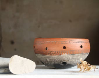 Serving dish. Ethnic raku ceramic fruit bowl. Boho wedding tableware. Gifts For The Couple, 50th anniversary gifts for parents, husband