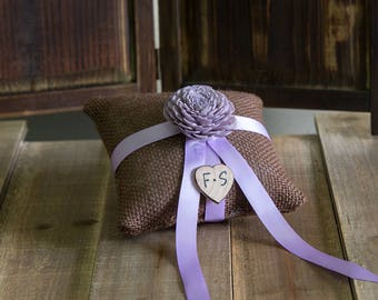 Pastel Lavender Sola Flower Ring Bearer Pillow, You pick flower and ribbon color