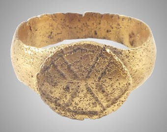 Authentic Ancient Roman Ring C.100-300A.D.  Size 7  (17.4mm) (brr1156)
