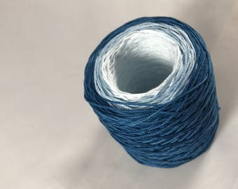 Crochet Thread - Hand Dyed - Navy Blue Three Color Gradient - HDT - Large Project Sizes - Size 10
