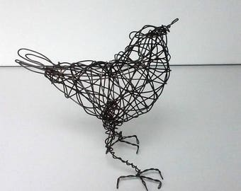 Original Handmade Wire Bird Sculpture -  PETUNIA