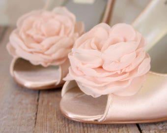 Blush Wedding, Blush Wedding Shoes, Wedding Wedges, Wedges, Wedding Shoes Blush, Wedding Shoes Wedges, Flower Wedding Shoes, Custom Wedding