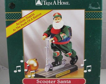 Trim A Home Scooter Santa- Musical and Animated NIB