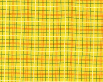 """END OF BOLT - 14"""" X 44"""" - Yellow Plaid From Michael Miller"""
