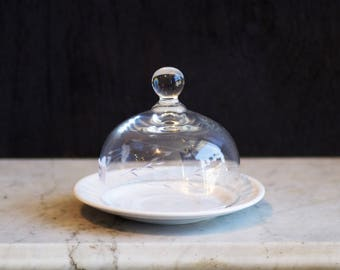 Vintage Glass Butter or Compote Dish