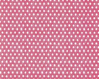 SHOP CLOSING SALE Fat Quarter fabric for quilt or craft Michael Miller Sun Tiles in Lipstick Fat Quarter