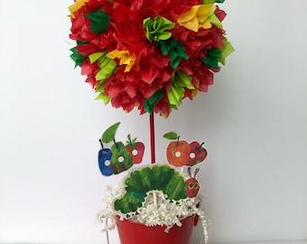 Very Hungry Caterpillar birthday party, decoration, centerpiece, decorations, Centerpieces, hungry caterpillar