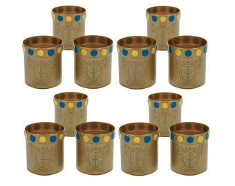 Knight's Gold Plastic Cups - Set of 12