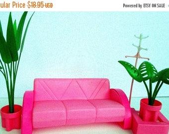 20% Summer SALE Vintage Arco Mattel 1980s Barbie Furniture Collection~Sofa, Plants, Platform, Coatrack...MOD Barbie Furniture