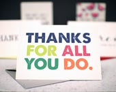 Thanks for All You Do Thank You Card with Matching Gray Envelope