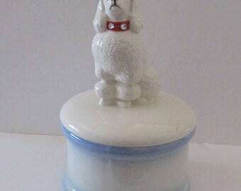 Standard Poodle Cookie/Treat Jar/Urn.