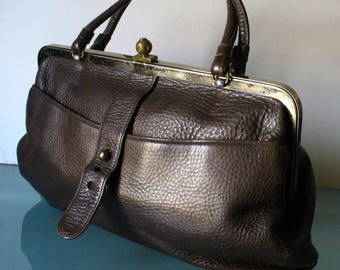 Vintage Saber Pebbled Leather XLarge Handbag