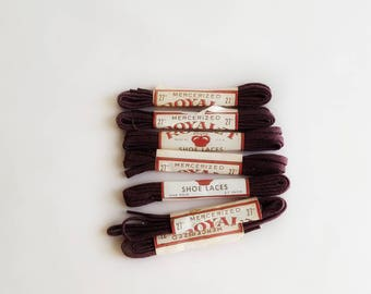 """Brown Shoelaces  27""""  Mercerized Shoe Laces Vintage Royal-t Brand New In Package"""