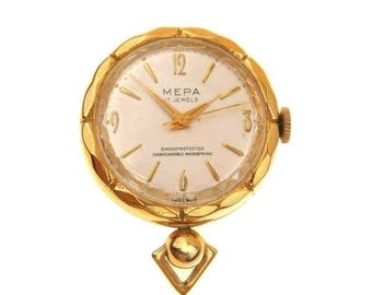 cfa75083f1e Vintage Bucherer Ball Watch Pendant and Watch Chain