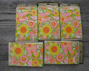 vintage hallmark party invitations large lot 39 in all spring themed invitations new in package mod flowers mid century