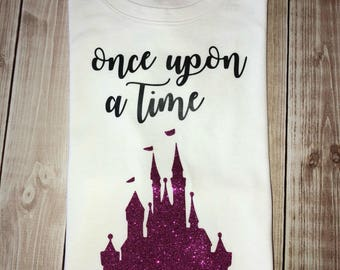 Youth or Toddler girl castle bodysuit, pink glitter, disney vacation, little sister big sister tee, girl castle vacation tshirt