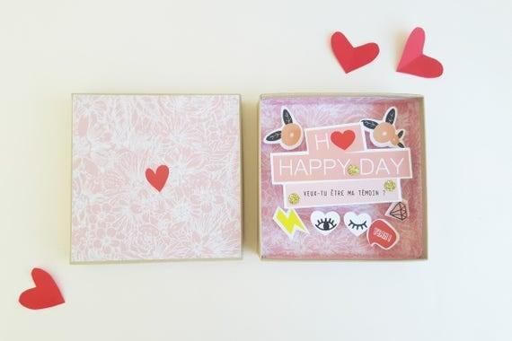 Will you be my bridesmaid message box - Ask bridesmaid - Gift bridesmaid - Wedding gift