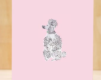 Pink Poodle Print + Illustration
