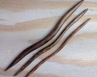 East Indian Walnut Cable Needles