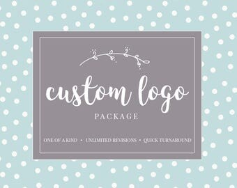 Logo Design Branding, Photography Logo, Small Business Logo,  Custom Logo, Logo Design Package, Affordable Logo, Floral Logo, Logo Branding