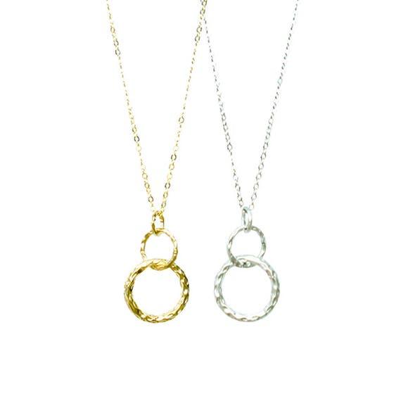 Textured Eternity Pendant Necklace