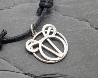 Aries Taurus necklace sterling silver