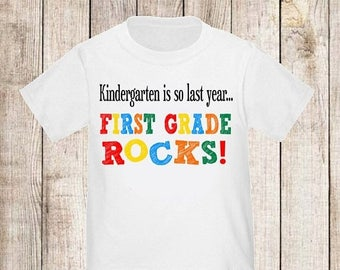 ON SALE Back to School First Grade Rocks Shirt - ANY Year
