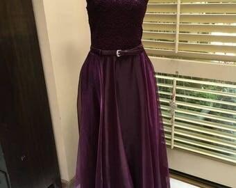 Vintage Summer Sale Purple ballerina inspired vintage retro dress size 10 1990