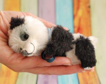 Miniature teddy handmade Panda bear Lea