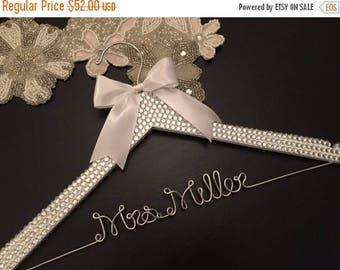 LOVE SALE BLING Wedding Hanger, Bridal Hanger, Personalized Hanger, Brides Name Hanger, Bride Hanger, Bling Wedding, Rhinestone Sparkle Hang