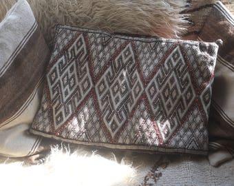 Moroccan Berber Kilim Pillowcase, Berber Cushion cover, Moroccan woven pillow case, Berber throw Pillow