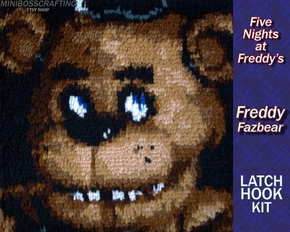 Five Nights at Freddy's: Freddy Fazbear - Latch Hook Kit - DIY Latch Hook Rug 15.5*15.5