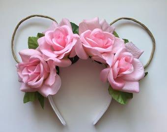 Disney Boho Floral Flower Crown Ears