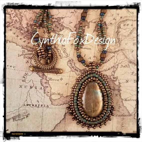 Golden Shimmery Labradorite Necklace
