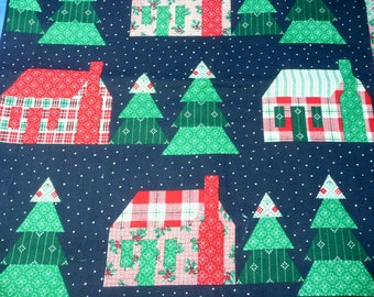Fabric Traditions Christmas House Quilt Print 1 yard