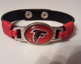 Atlanta Falcons bracelet leather cuff falcon atl