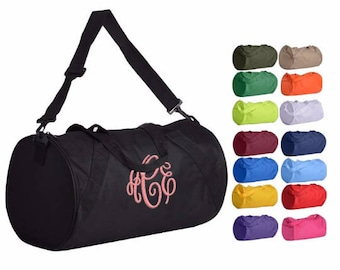 Monogrammed Duffle Bag Monogram Gym Dance Cheer
