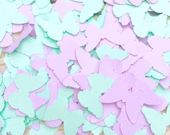 Butterfly Confetti, Butterfly Baby Shower, Lavender and Mint Butterfly Baby Shower Decoration, Mint Butterfly Confetti