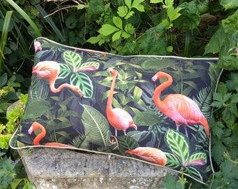 Flamingo cushion. FREE UK P & P. Flock of Flamingoes scatter cushion.