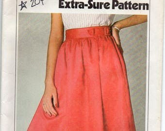 Gathered Skirt With Pockets In Side Seams Buckled Waistband Size 12 14 16 Sewing Pattern 1979 Extra Sure Simplicity 9027