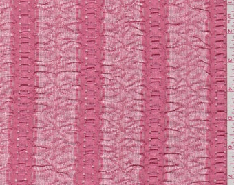 Coral Pink Stretch Lace, Fabric By The Yard