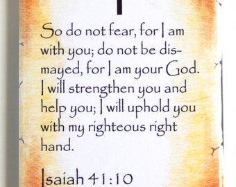 Isaiah 41:10 Bible Verse Fridge Magnet (2 x 3 inches)