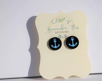 Funky earrings, fun earrings, button earrings, personalized jewelry  Custom earrings, party favors, fan art earrings -stud earrings- gift