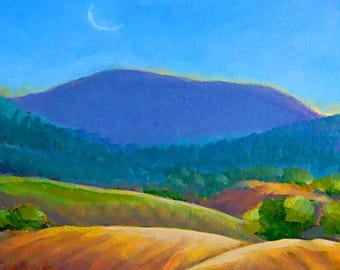 Mary's Peak Moon FINE ART Cards and Prints by Carrie Tasman