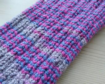 L PICC Line / IV Cover (Armband) fuchsia, blue, taupe, machine wash, intravenous, chemo, tpn, hand knit, cotton, elastic, soft, line, wild